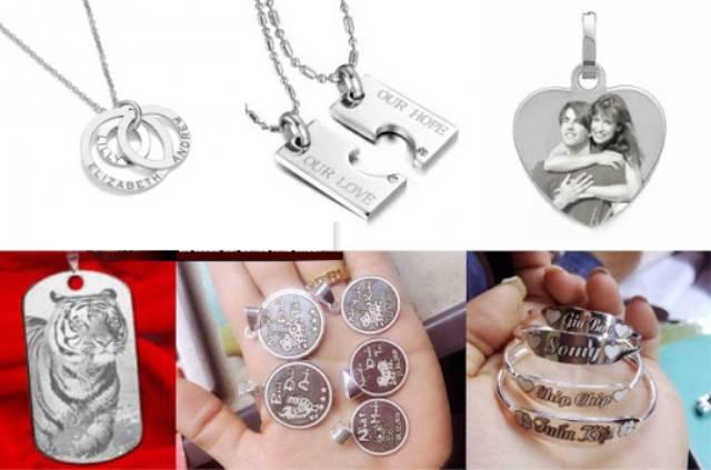 Cắt và khắc laser trên các món đồ trang sức