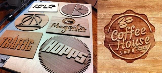 Cắt và khắc laser trên gỗ phục cụ yêu cầu khách hàng