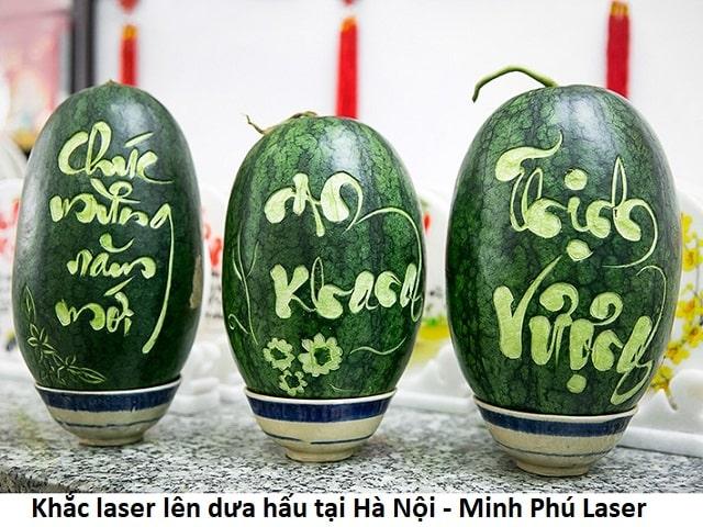 Nhận khắc laser lên dưa hấu lấy ngay tại Hà Nội