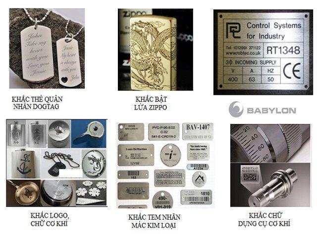 Dịch vụ cắt và khắc laser Hai Bà Trưng trên các sản phẩm bằng kim loại uy tín