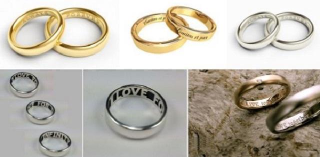 Khắc tên lên nhẫn cưới bằng công nghệ laser