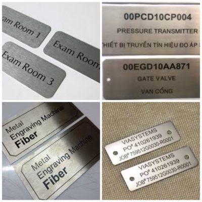 Khắc chữ lên các khuôn kim loại