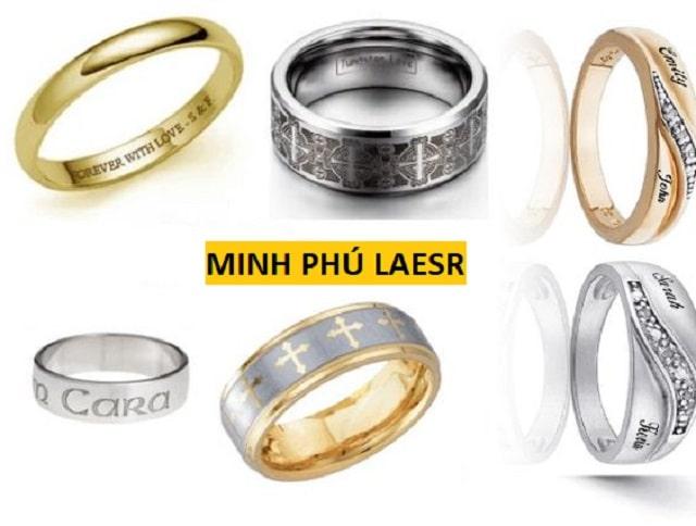 Khắc laser lên trang sức kim loại