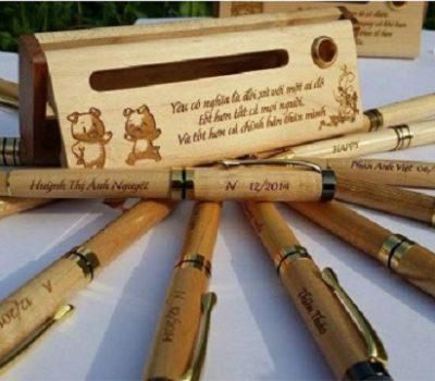 Bút gỗ khắc chữ băng gỗ công nghiệp, gỗ ép