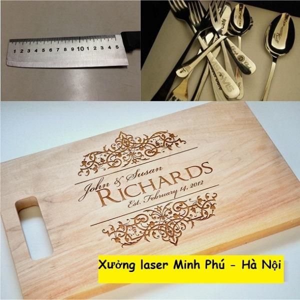 Khắc chữ, khắc tên trên dao, thìa, muỗng, muôi, nĩa