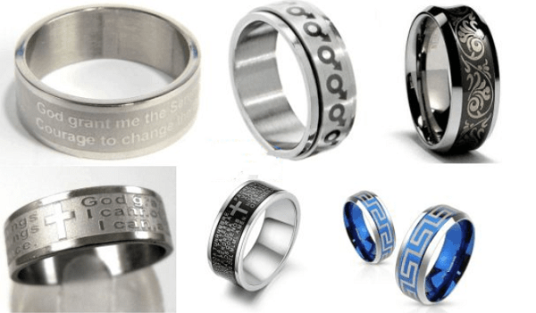 Giới thiệu một số mẫu khắc laser lên nhẫn cưới, nhẫn inox đẹp