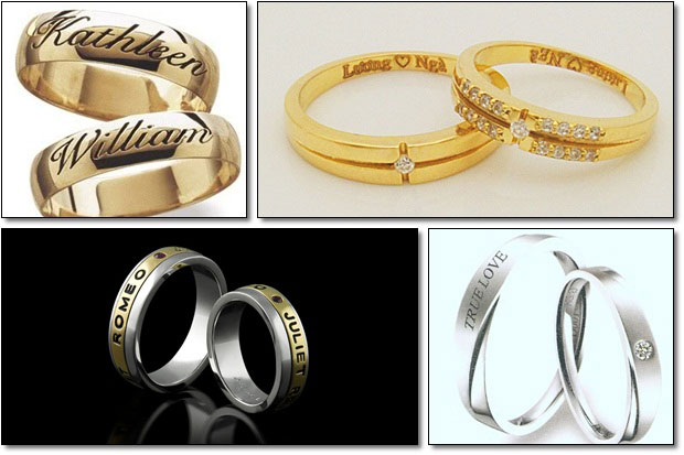 Các mẫu khắc laser nhẫn cưới đẹp và ấn tượng