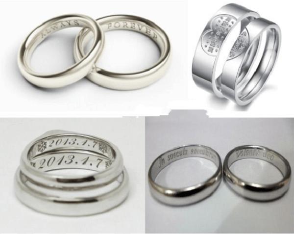 Các mẫu khắc tên lên nhẫn, khắc tên lên nhẫn đôi, nhẫn cưới,..