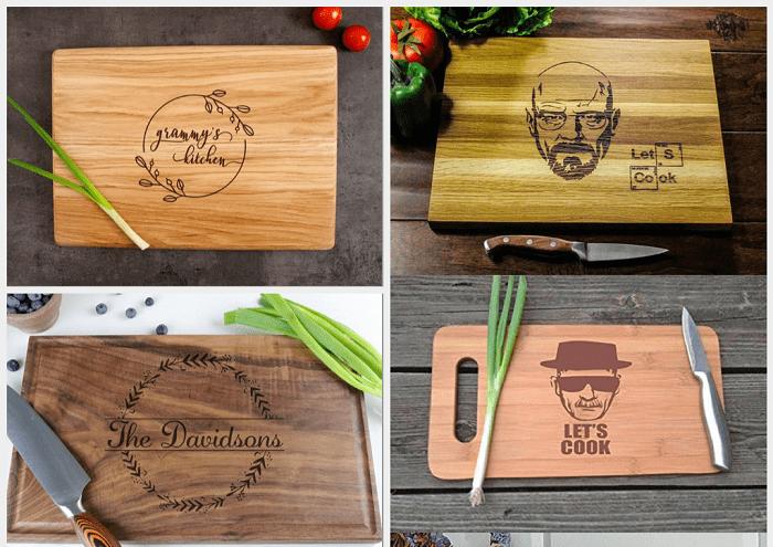 Mẫu thớt gỗ khắc laser được ưa chuộng trên thị trường