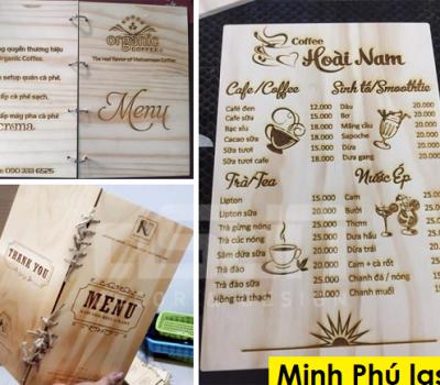Dịch vụ khắc laser bảng menu gỗ đẹp và uy tín tại Hà Nội