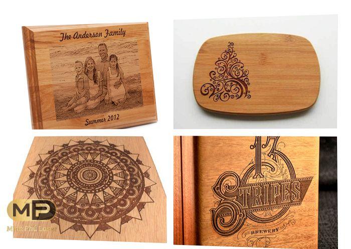 Một số sản phẩm được khắc hình trên gỗ