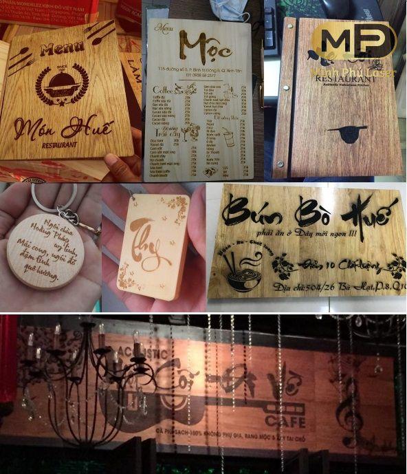 Khắc thư pháp lên tranh gỗ làm quà tặng