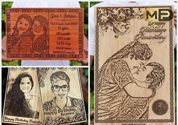 Khắc tranh gỗ từ ảnh chân dung