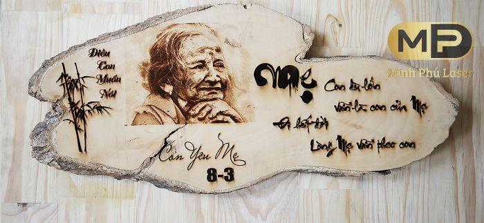 Dịch vụ cắt khắc laser tranh gỗ tại Hà Đông, Hà Nội